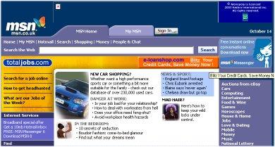 MSN page