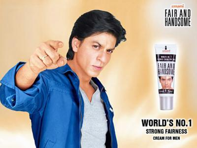 Indian fairness cream ad featuring Shahrukh Khan