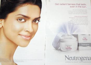 Indian fairness cream ad