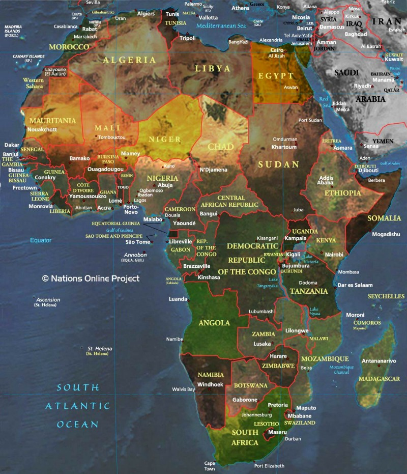 Large Map of Africa